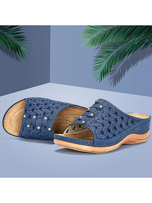 Berrylook Casual Women Solid Color Hollow Out Sandals stores and shops, shoppers stop,