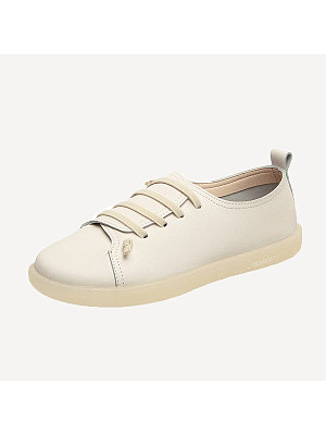 Women's Fashion Solid Color Round Flat Shoes, 8023081