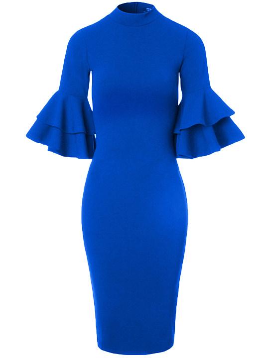 Black dress v neck long sleeve