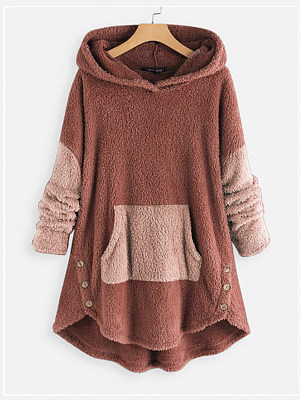 Berrylook coupon: Casual  Colouring  Long Sleeve Hoodie
