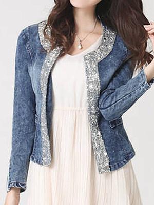 Berrylook coupon: Collarless  Glitter Jackets