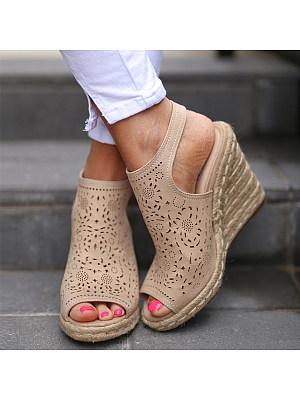 da66df8d611 Plain Velvet Peep Toe Date Wedge Sandals