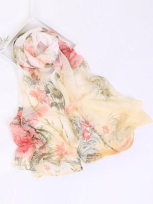 Berrylook coupon: Gauze Floral Printed Scarves