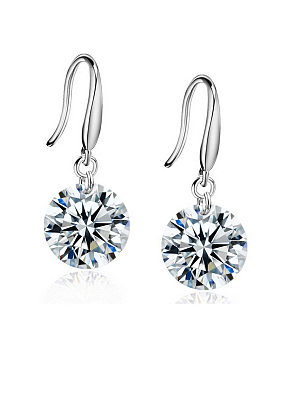 Berrylook coupon: Pair Of Alloy Rhinestone Drop Earrings