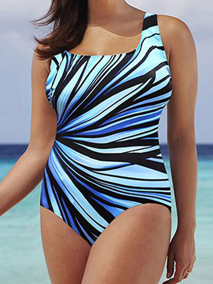 Image of Abstract Print Plus Size Beachwear