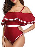 Image of Pure Colour Triangular Sexy Women's Piece Swimsuit