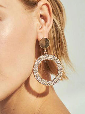 Simple And Chic Metal Earrings For Women