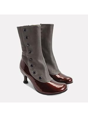 Colouring Stiletto Round Toe Boots, 9180534
