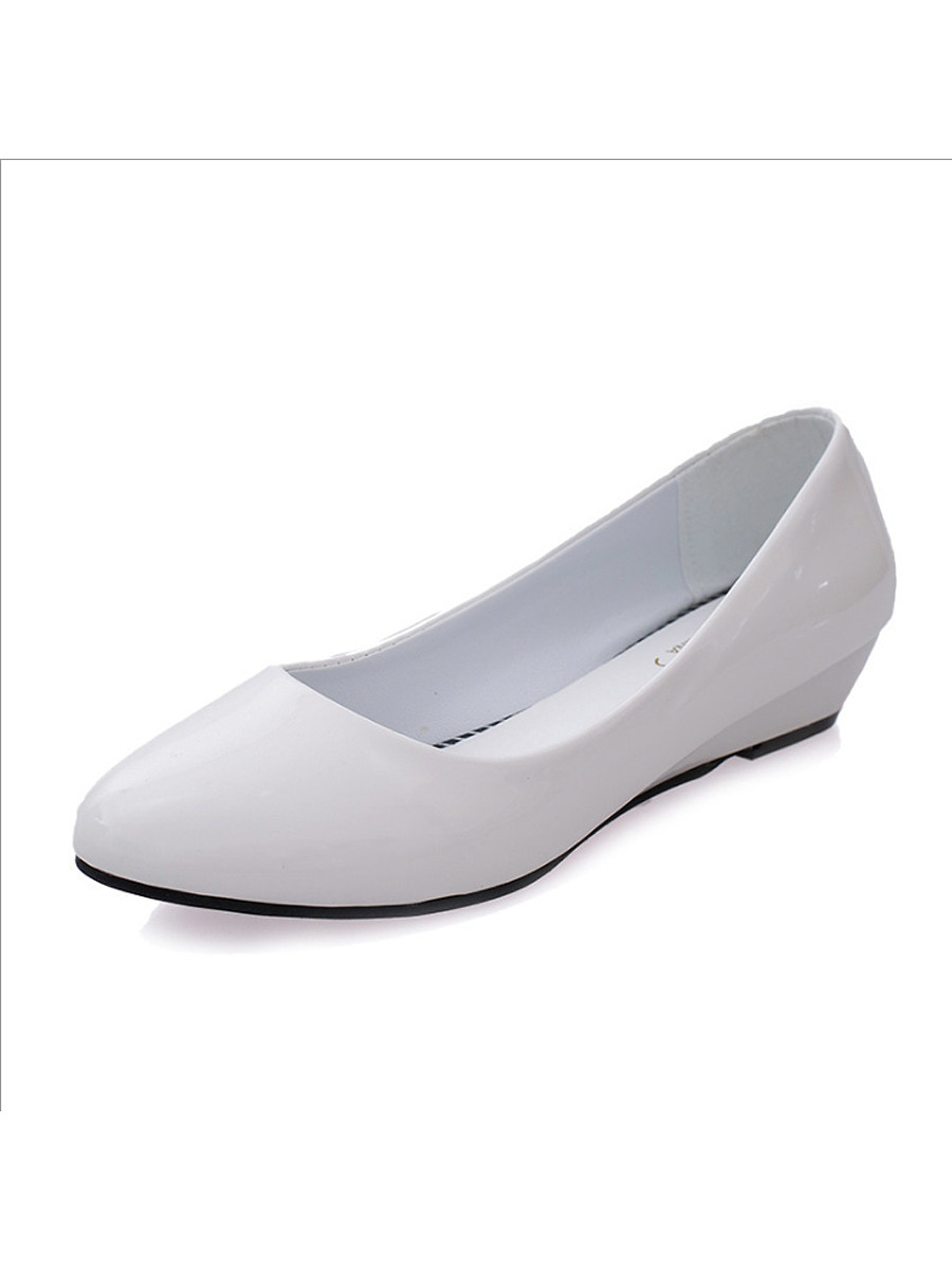 Low Heeled  Point Toe  Basic Pumps