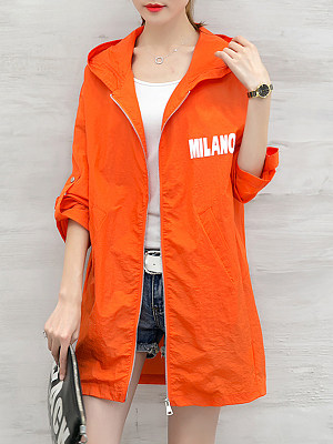Hooded Letters Trench Coat