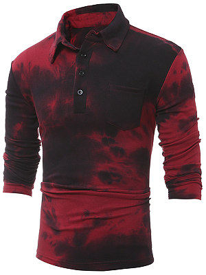 Polo Collar Tie/Dye Men T-Shirt