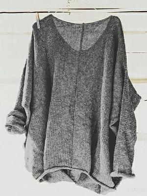 Autumn Spring Polyester Women Round Neck Plain Long Sleeve Long Sleeve T-Shirts, 5018295