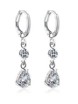 Berrylook coupon: Rhinestoned Faux Crystal Oval Drop Earrings