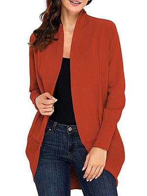Patchwork Casual Plain Long Sleeve Knit Cardigan, 8843236