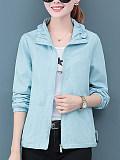 Casual Turndown Collar Pure Colour Jacket