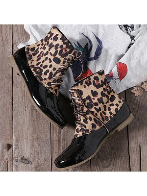Flat Round Toe Casual Outdoor Mid Calf Flat Boots, 8506925