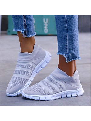 Flat Round Toe Casual Travel Sneakers, 8700292