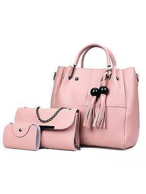 Berrylook coupon: Pink Three Pieces New Style Women Shoulder Bags