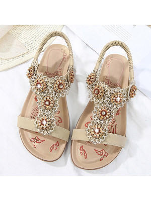 Flat Peep Toe Casual Date Flat Sandals