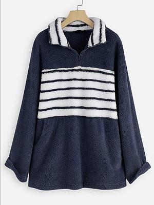 Casual Colouring Long Sleeve Sweatshirt, 9996103