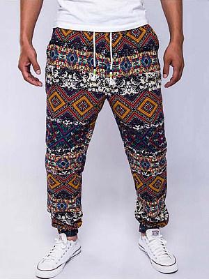 Men's Casual Tribal Printed Jogger Pants