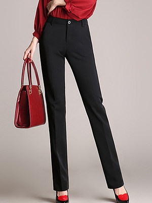 Formal Black Pocket Straight Pants