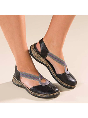 Color Block Flat Round Toe Date Travel Comfort Flats, 7307450