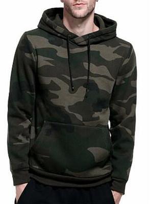 Camouflage Kangaroo Pocket Men Hoodie