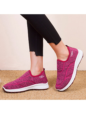 Flat Round Toe Casual Travel Sneakers, 8763297