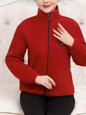 Band Collar Casual Sports Outerwear, 8536491