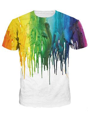 Round Neck Multi-Color Printed Men T-Shirt