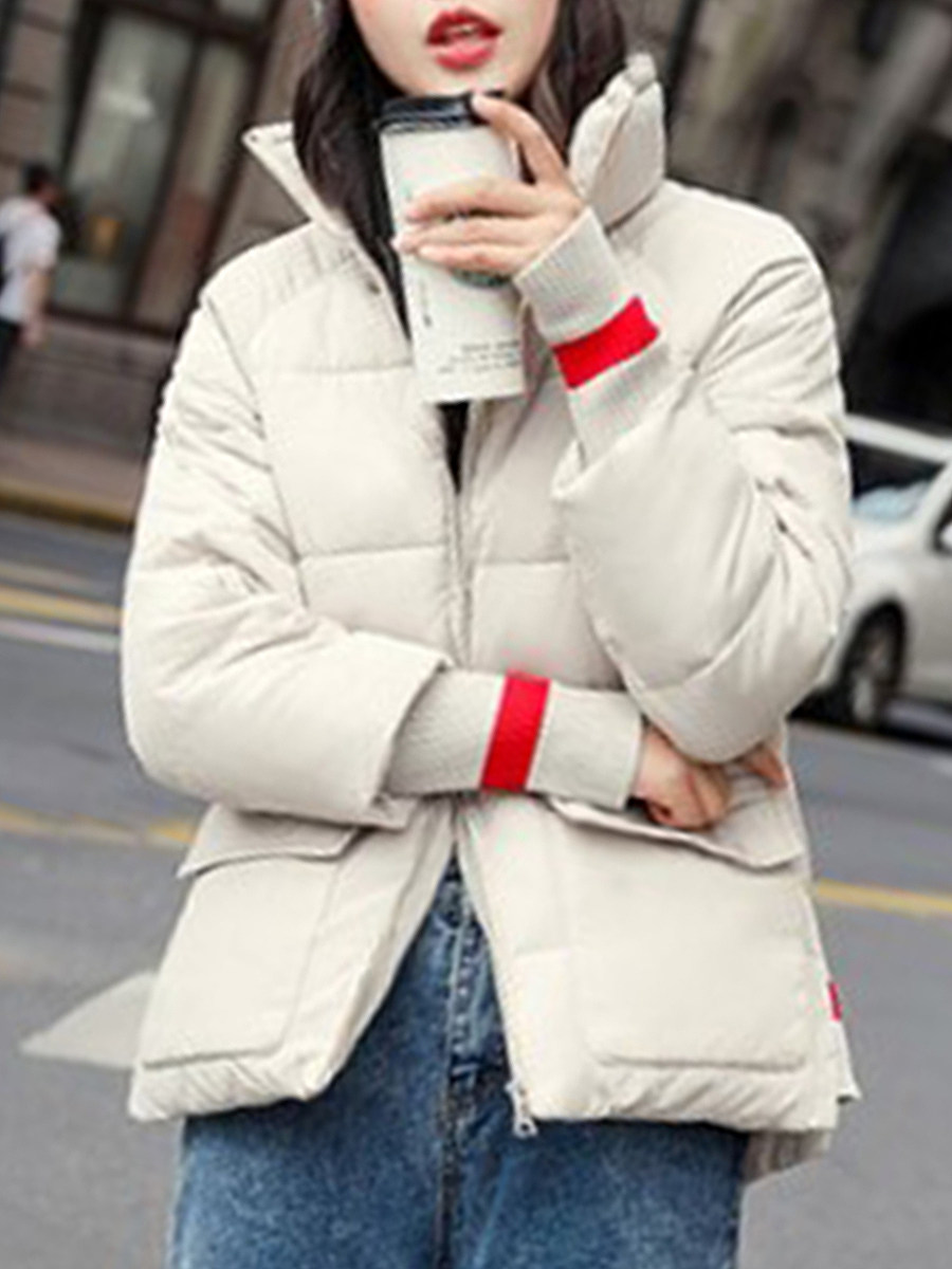 Band Collar  Colouring Plain Outerwear - from $29.95