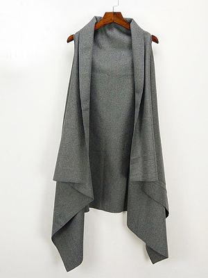 Asymmetric Neck  Asymmetric Hem  Plain Waistcoat