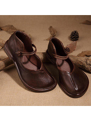 Plain Flat Round Toe Casual Travel Flat & Loafers, 7036892