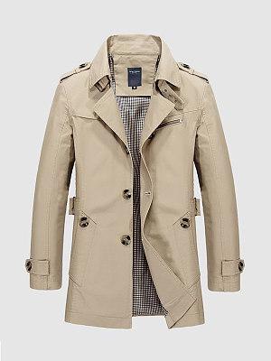 Lapel Men Trench Coat