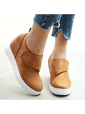 Plain Round Toe Sneakers, 9018756