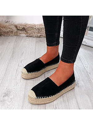 Plain Round Toe Casual Date Flat & Loafers, 8336404