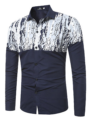 Trendy Abstract Print Men Shirts