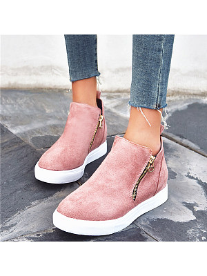 Plain Round Toe Sneakers, 8875031