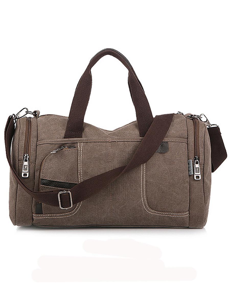 Dual-Use Men's Canvas Camping Crossbody Handbag