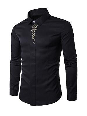 Refined Regular Fit Embroidery Men Shirt
