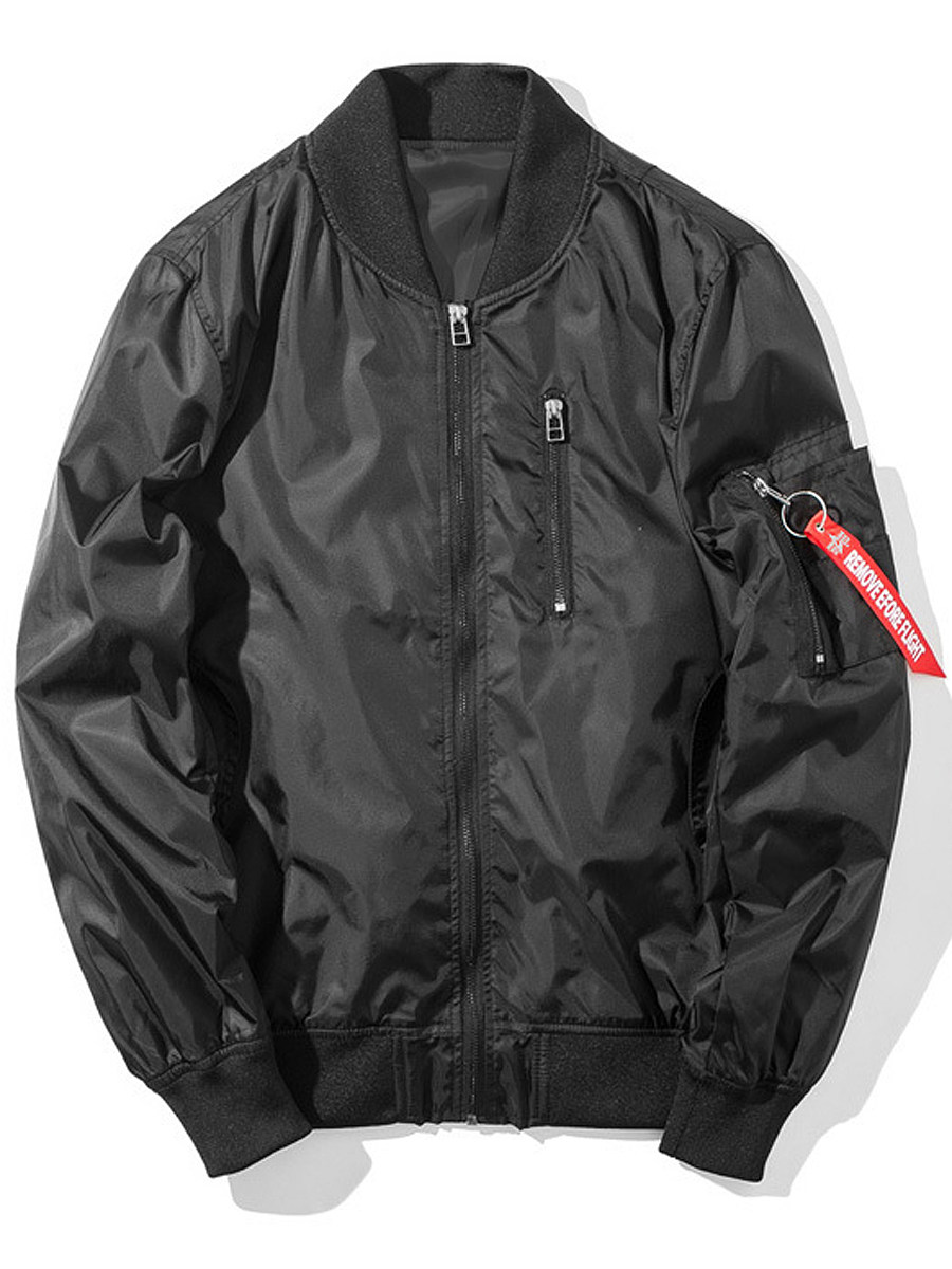 BerryLook Band Collar Printed Men Bomber Jacket