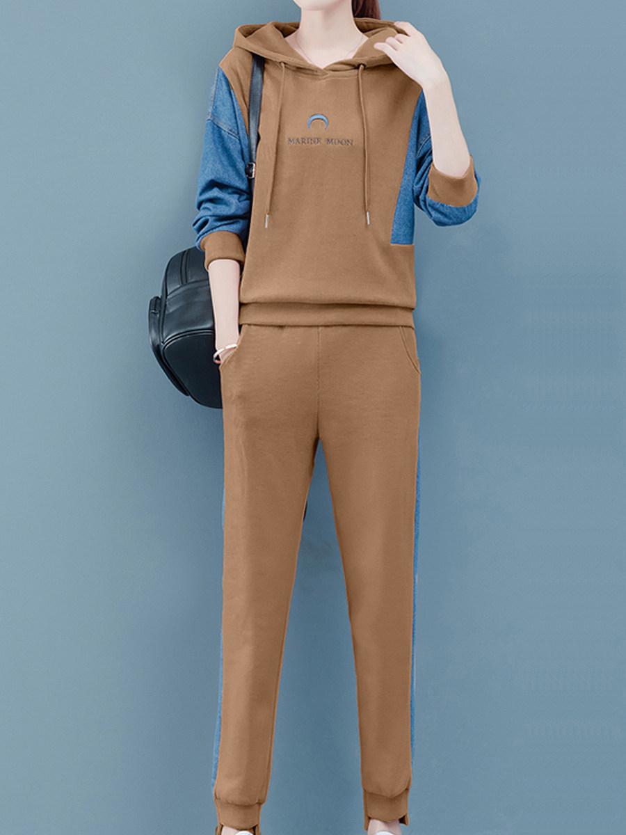 BerryLook Brief  Colouring  Long Sleeve Hoodie Suit