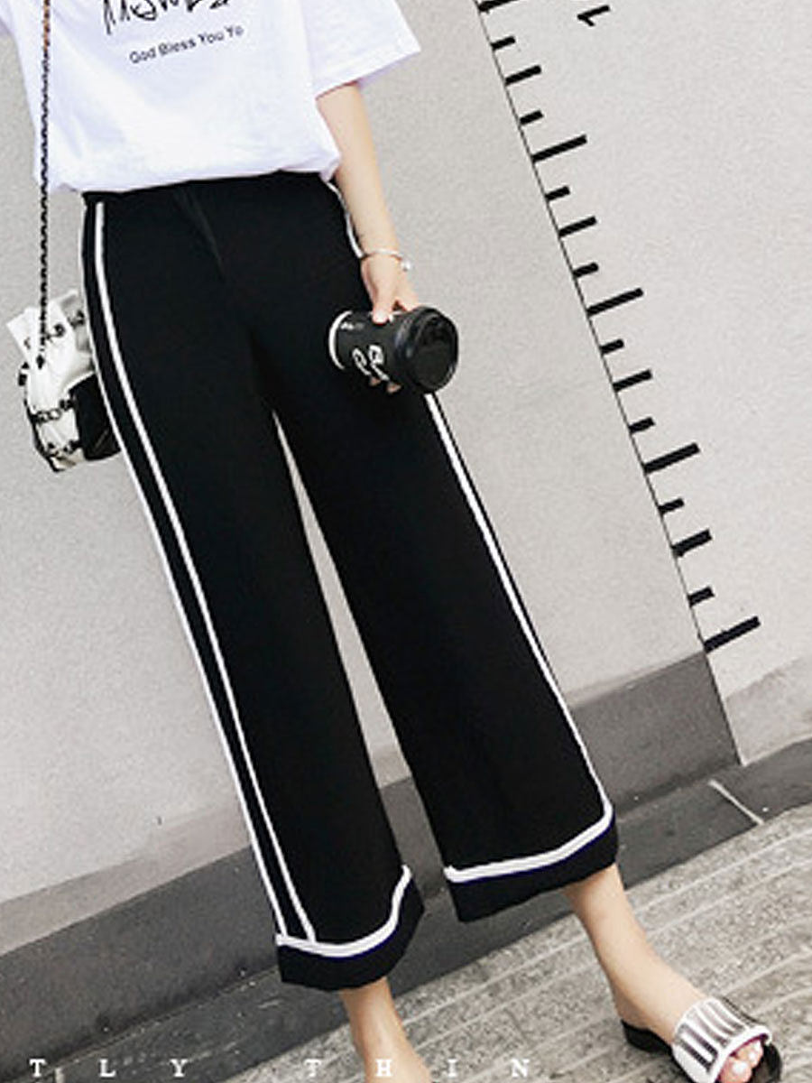 Mid-Rise Casual Pants For Women