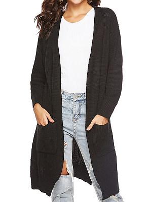 Casual Printed Long Sleeve Knit Cardigan, 9992754