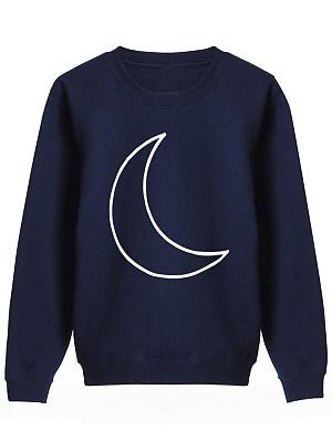 Round Neck Cartoon Sweatshirt