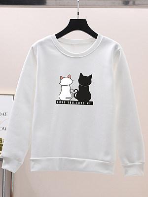 Round Neck Animal Prints Sweatshirt