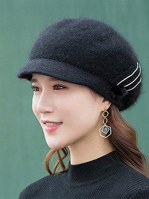 Fashion Beret Plain Hats For Lady
