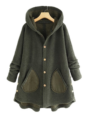 Hooded Plain Coat фото