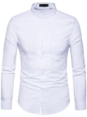 Office Patch Pocket Plain Men Shirts